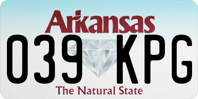 AR license plate 039KPG