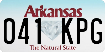 AR license plate 041KPG