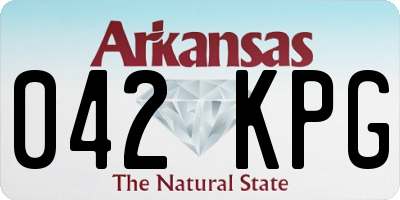 AR license plate 042KPG