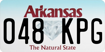 AR license plate 048KPG
