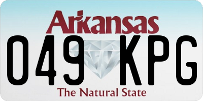 AR license plate 049KPG