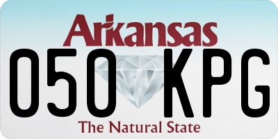 AR license plate 050KPG