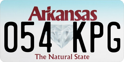 AR license plate 054KPG