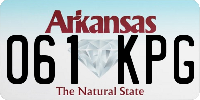 AR license plate 061KPG