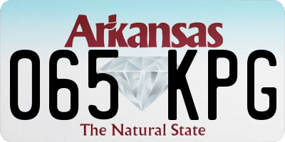 AR license plate 065KPG