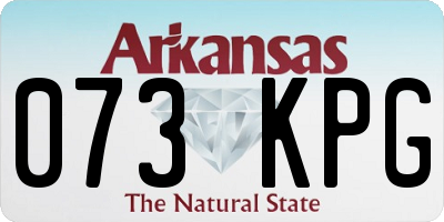 AR license plate 073KPG