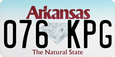 AR license plate 076KPG