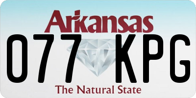 AR license plate 077KPG