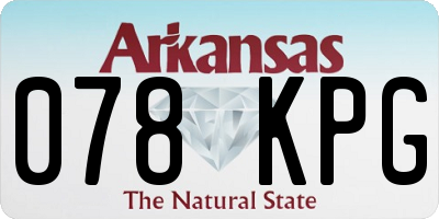 AR license plate 078KPG