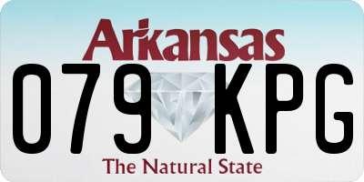 AR license plate 079KPG