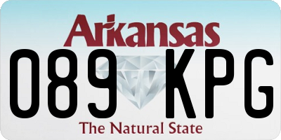 AR license plate 089KPG