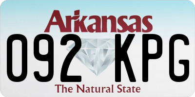 AR license plate 092KPG