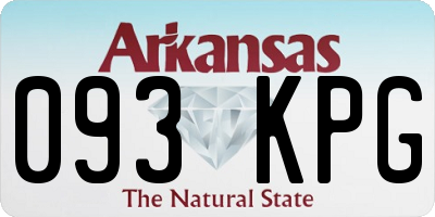 AR license plate 093KPG