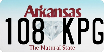 AR license plate 108KPG