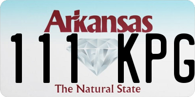 AR license plate 111KPG