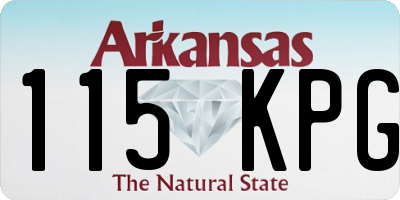 AR license plate 115KPG