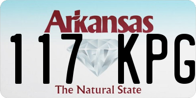 AR license plate 117KPG