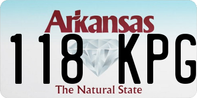 AR license plate 118KPG