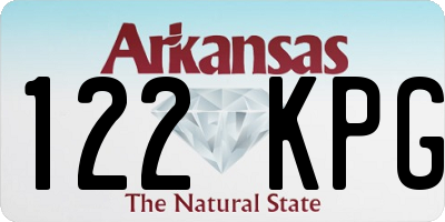 AR license plate 122KPG