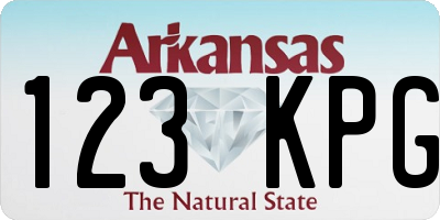 AR license plate 123KPG