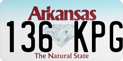 AR license plate 136KPG