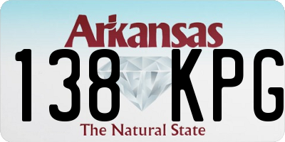 AR license plate 138KPG
