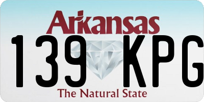 AR license plate 139KPG