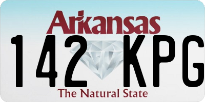 AR license plate 142KPG