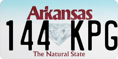 AR license plate 144KPG