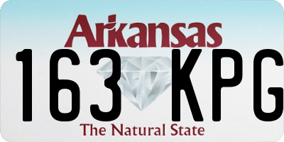 AR license plate 163KPG