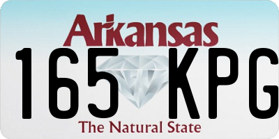 AR license plate 165KPG