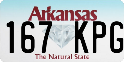 AR license plate 167KPG
