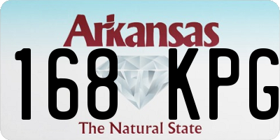 AR license plate 168KPG