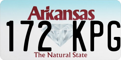 AR license plate 172KPG