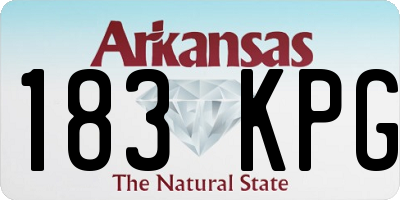 AR license plate 183KPG