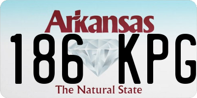 AR license plate 186KPG