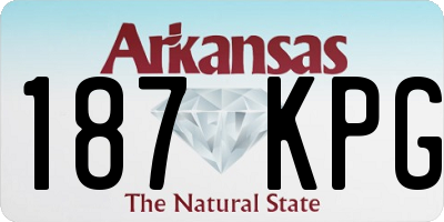 AR license plate 187KPG