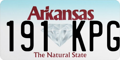 AR license plate 191KPG