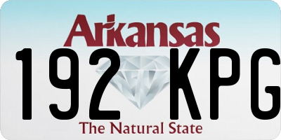 AR license plate 192KPG