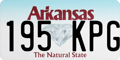 AR license plate 195KPG
