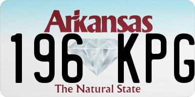 AR license plate 196KPG