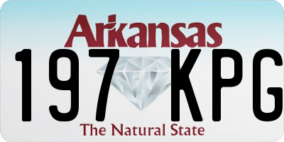 AR license plate 197KPG