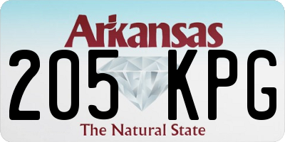 AR license plate 205KPG