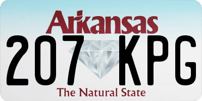 AR license plate 207KPG