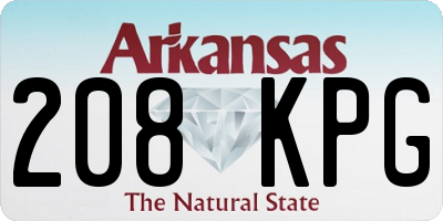 AR license plate 208KPG