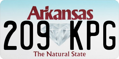AR license plate 209KPG