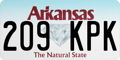 AR license plate 209KPK