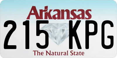 AR license plate 215KPG