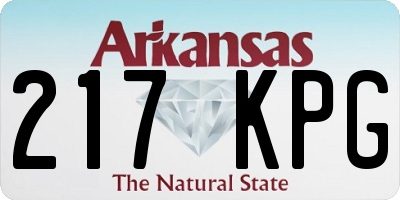 AR license plate 217KPG