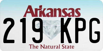 AR license plate 219KPG